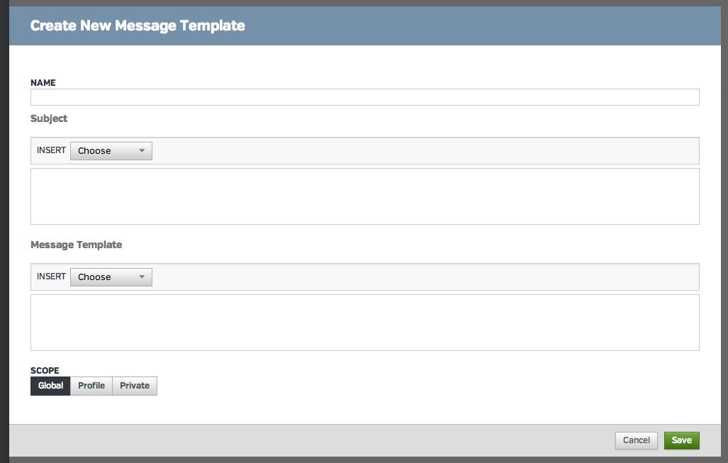 how do i create a message template raven help desk. Black Bedroom Furniture Sets. Home Design Ideas